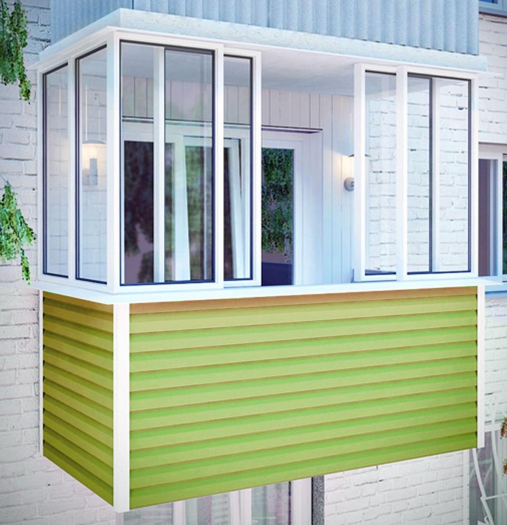 Отделка балкона сайдингом заказать недорого - мир комфорта в.